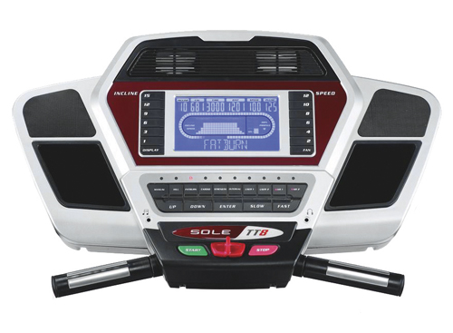 sole TT8 treadmill console