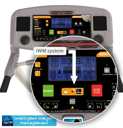 yowza fitness treadmill - iwm console