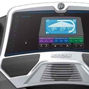 horizon t303 treadmill review - console