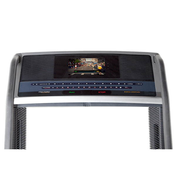Boston Marathon Treadmill Console