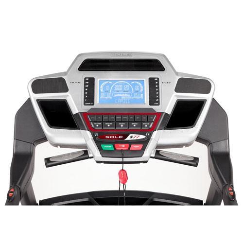 sole s77 treadmill review - console