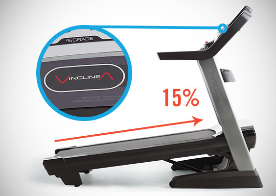 proform pro 2000 treadmill incline