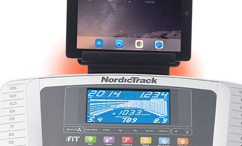 nordictrack C990 treadmill tablet holder