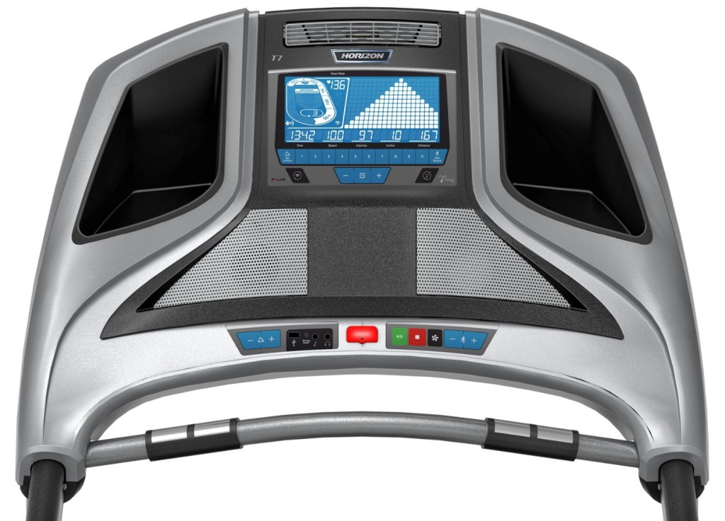 horizon Elite T7 Treadmill Console