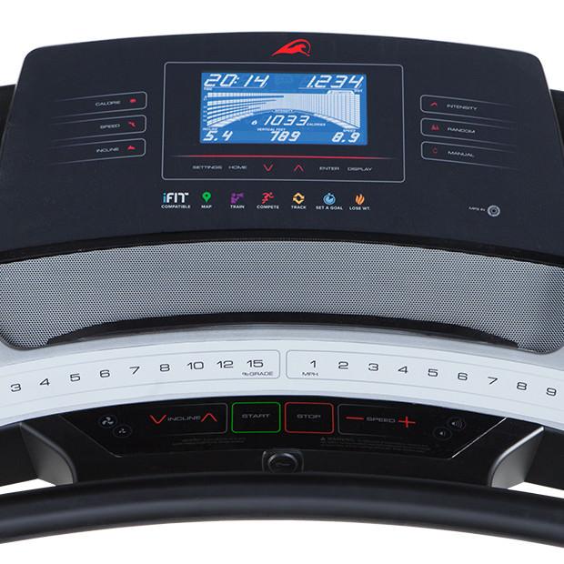 smooth 800 treadmill console