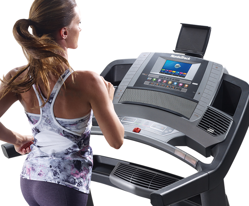 1750 commercial treadmill console with tray