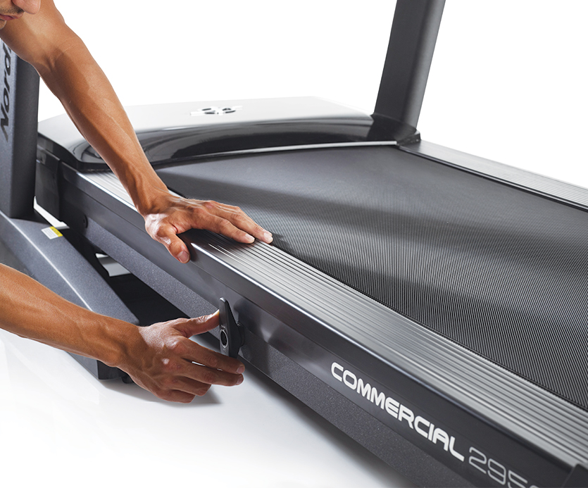 adjustable cushioning on 2950 treadmill
