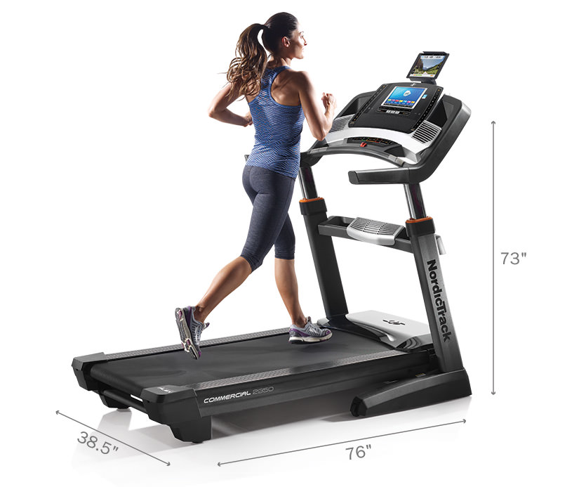 nordictrack 2950 treadmill footprint