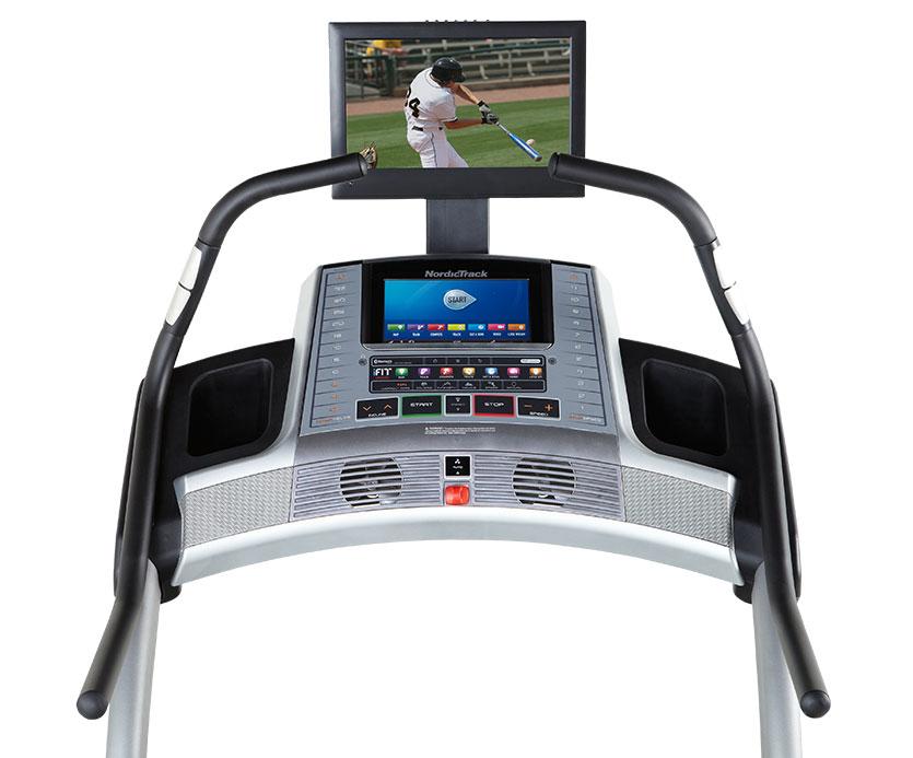 nordictrack X15 incline treadmill console
