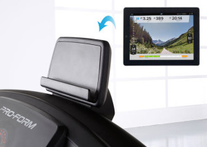 tablet holder for treadmill