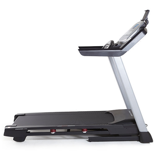 proform premier 900 treadmill review - side view