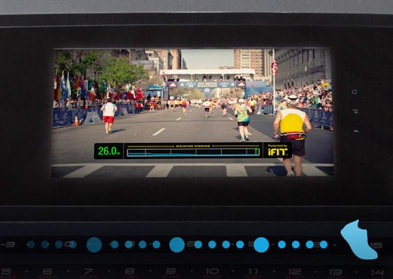 boston marathon 3.0 treadmill console