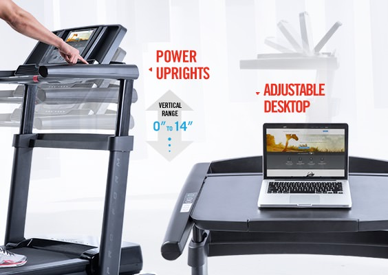 proform thinline pro desk treadmill console